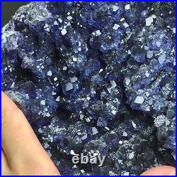 6430g Museum Quality-Extremely Rare Natural Trapezoidal Blue Fluorite on Matrix