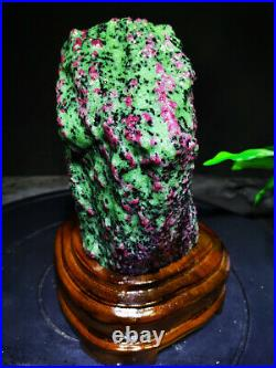 8.14LB Large/Heavy Extremely Rare Natural Ruby ZOISITE Quartz Crystal NR549