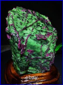 9.02LB Large/Heavy Extremely Rare Natural Ruby ZOISITE Quartz Crystal withSt M586