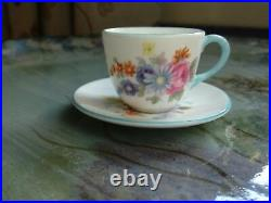 An Extremely Rare Westminster Shape, Floral Miniature Cup And Saucer