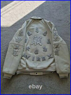 Avirex Grand Master 75 Leather Jacket Large Extremely Rare & Exclusive