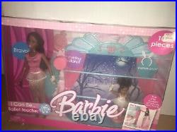 Barbie I Can Be A Ballet Teacher 2 Doll Set Twirl Stand 2006 Extremely Rare