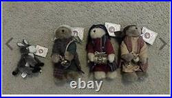 Boyds Bear 4-piece Nativity Wiseman Accessory Set- Retired EXTREMELY RARE