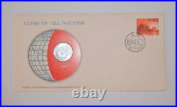 China 1980 5 Fen Coins of All Nations Envelope & Stamp EXTREMELY RARE Coin