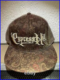 Cypress Hill Paisley HEMP Hat-Brown/Tan-Size L-EXTREMELY RARE-L3CK Legends