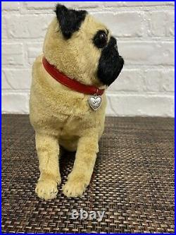 Danbury Mint pug sculpture with FUR Extremely RARE & ADORABLE PUG