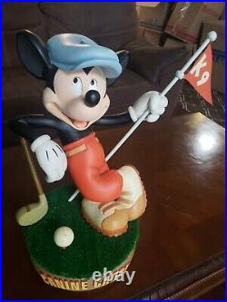 Disney Mickey Mouse Canine Caddy Big Fig Figure Extremely Rare and HTF Golf