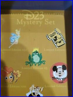Disney Pin 2010 D23 Expo Mystery Set Store Complete set 1 of 1 Extremely rare