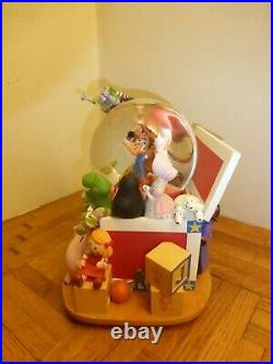 Disney Pixar Toy Story Musical Snow Globe Andy's Toy box As Is Extremely RARE