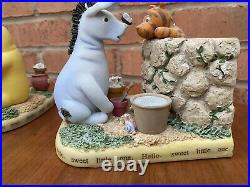 Disney Winnie the Pooh with Eeyore Figurine Bookends Statue Set Extremely Rare