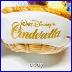 EXTREMELY RARE Disney Direct Retired Cinderella Mice Sewing Basket Teapot