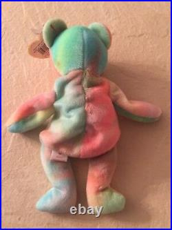 EXTREMELY RARE ERRORS TY Beanie Babies Peace Bear Retired with tag