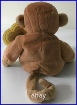 EXTREMELY RARE RETIRED TY BEANIE BABY'BONGO' THE MONKEY MINT CONDITION WithTAGS