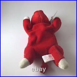 EXTREMELY RARE RETIRED TY BEANIE BABY'SNORT' THE BULL, 1995 MWMT Space Before