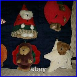 EXTREMELY RARE Retired 2003 Boyds Bears QVC Peeker 12 Month Hanging Calendar