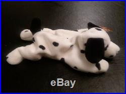 EXTREMELY RARE! Retired Ty Beanie Baby Dotty with Errors FACTORY MADE WithO TUSH TAG