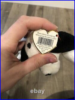 EXTREMELY RARE WHITE STAR HANG TAG DOTTY Retired Ty Beanie Baby with Errors Rare