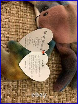 EXTREMELY RARE(Waterlooville) CLAUDE the Crab Ty Teenie Beanie Baby