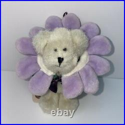 Extremely RARE Boyds Bears Mini Plush Lila Flower Bear Ornament Collectible Toy