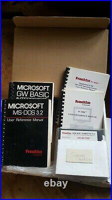 Extremely RARE Packaged FRANKLIN PC-8000 Computer Boots and Computes
