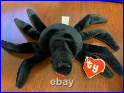 Extremely RARE Ty Beanie Babies Web the spider 2nd gen 1st gen 1993