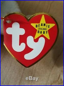 Extremely Rare! 1st VALENTINO 1994 TY INC Beanie Baby style 4058 poem tag PVC