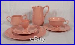 Extremely Rare! Antique Lenox China Classic Coral 9 Piece Breakfast Set Mint
