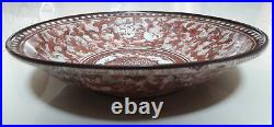 Extremely Rare Chinese Antique 17thC Copper Red Carp Fish & Babies Charger Dish
