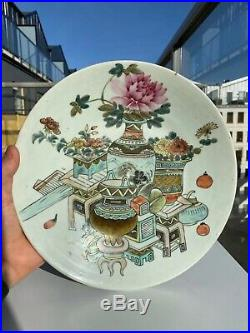 Extremely Rare Chinese Plate Tureen Qianjiang Cai Porcelain Precious Antique
