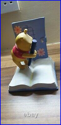 Extremely Rare Collectable Disney Eeyore & Winnie The Pooh Bookends Statue Set