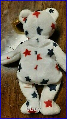 Extremely Rare Glory Bear Ty Beanie Baby 1997 Retired 1965KR Authentic Cool