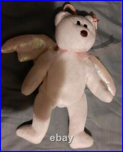 Extremely Rare Halo Ty Beanie Baby 1998 Retired Brown Nose Gasport error tag