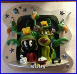 Extremely Rare! Looney Tunes Marvin The Martian with K9 Dog LE of 2500 3D Statue