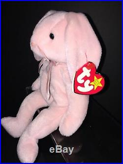 Extremely Rare ORIGINAL 1996 Ty Beanie Baby Hoppity With Errors On Tags