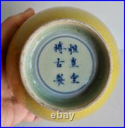 Extremely Rare Old Chinese Double Gourd Vase Green 6 Character Marks L@@k