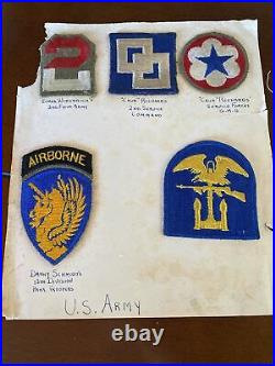 Extremely Rare Original WW2 Blood Chit US/Taiwan Flag With Dog Tags & Patches