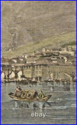 Extremely Rare Photo Of Hong Kong, Central Portion Of The Town Of Victoria 1857