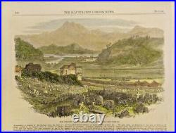 Extremely Rare Photo The Cemetery And The Racecourse At Hong Kong, China 1866
