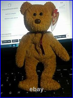 Extremely Rare Ty Beanie Baby Curly Bear Retired With Mulitple Tag Errors
