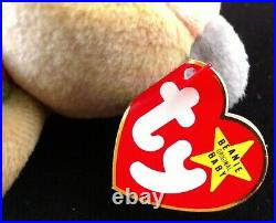 Extremely Rare Ty Beanie Baby Peace BEAR has Great Color and Tag Errors