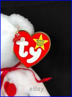 Extremely Rare! VALENTINO 1993/1994 TY Beanie Baby with 14 Errors