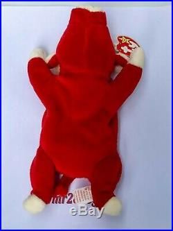 Extremely Rare Vintage 1995 Snort Ty Beanie Baby Style 4002 Errors