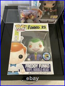 Freddy Funko Pop! The Joker Sdcc 2013 #23 1/200 Extremely Rare! Mint