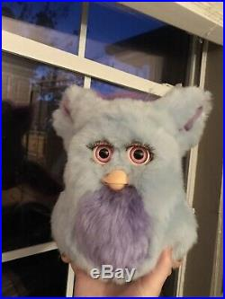 Funky furby 2006 emoto tronic model 62169 blue pink eyes EXTREMELY RARE WORKS