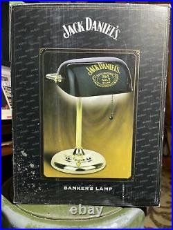 Jack Daniels Old No. 7 Brand BANKERS LAMP 2002 Vintage NIB 60WEXTREMELY RARE