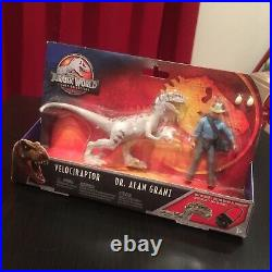 Jurassic World Park Legacy Collection Story Pack Dr Grant Raptor EXTREMELY RARE