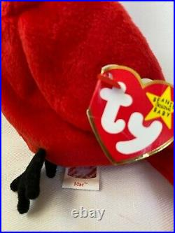 Mac Retired Beanie Baby Extremely Rare With Mel Tag Errors On Mel's Tag