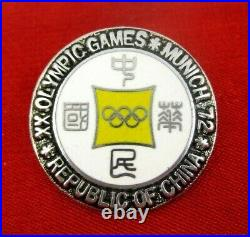 Munich 1972 Olympics CHINESE TAIPEI NOC Olympic Team Pin Badge Extremely rare