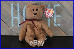New Extremely Rare Curly Bear Retired TY Beanie Baby 15 Distinctive Tag Errors