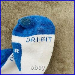 Nike Air Penny Low Elite White Blue Socks Mens L 8-12 EXTREMELY RARE